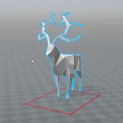 Diseños 3D gratis ciervos lowpoly, 0rion