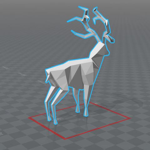 2017-07-11_17h05_54.png Download free STL file Lowpoly deer • 3D printer design, 0rion
