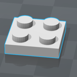 2017-07-25_11h20_45.png Download free STL file PIECE LEGO 2x2 FLAT • Model to 3D print, 0rion