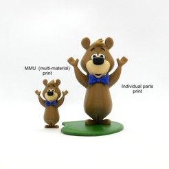 booboo_group.jpg Download free 3MF file Boo-Boo Bear - MMU • Object to 3D print, reddadsteve