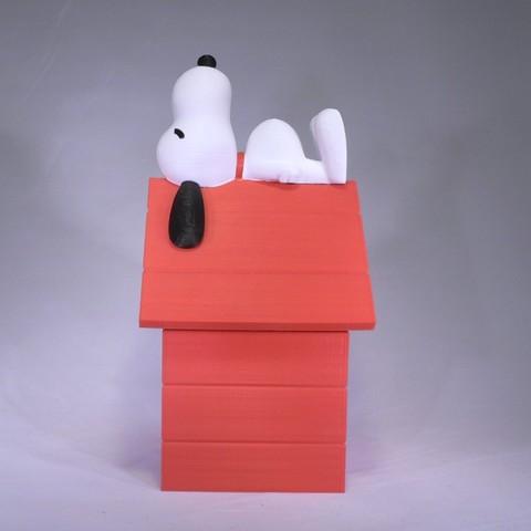 snoopy side1.jpg Download free STL file Snoopy • 3D printable design, reddadsteve