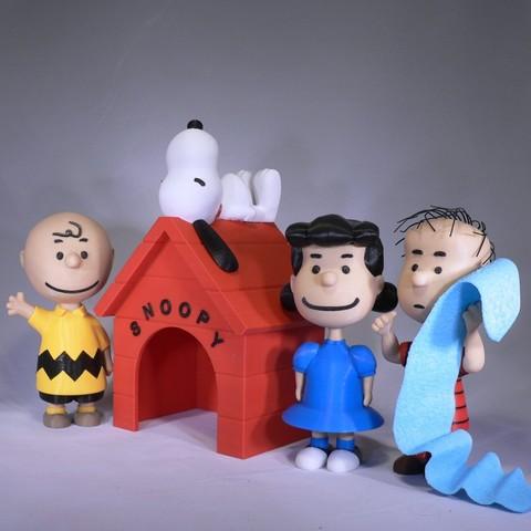 peanuts group1.jpg Download free STL file Snoopy • 3D printable design, reddadsteve