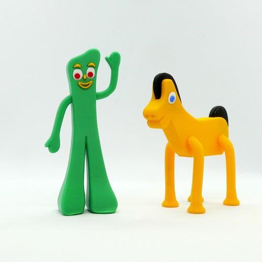 Download free 3D printer designs Gumby and Pokey, reddadsteve