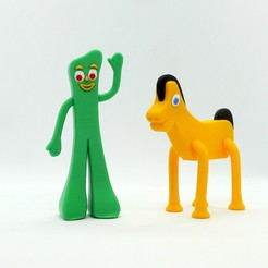 Download free 3D printer designs Gumby and Pokey, reddadsteve
