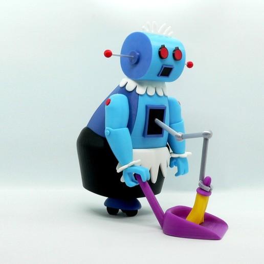 Télécharger fichier STL gratuit Rosie le Robot • Plan pour imprimante 3D, reddadsteve