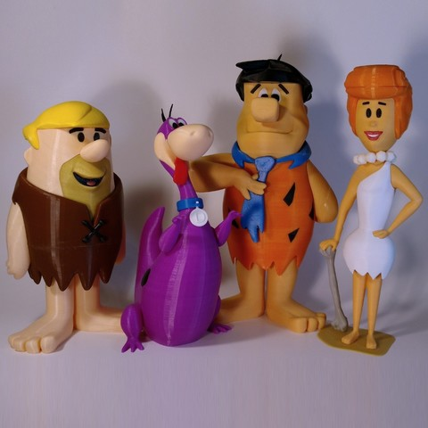flintstones1.jpg Download free STL file Barney Rubble • 3D print design, reddadsteve