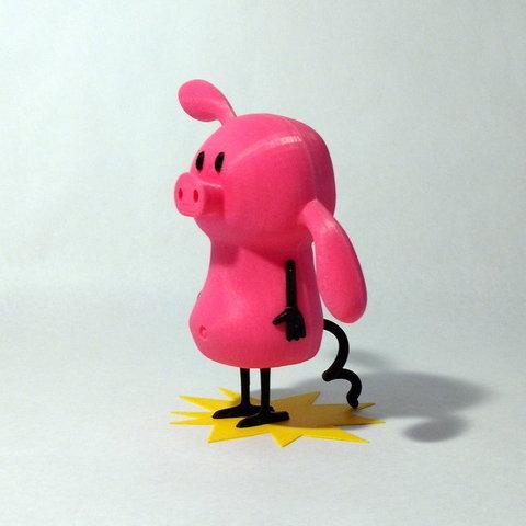 diseños 3d gratis Cerdo, reddadsteve
