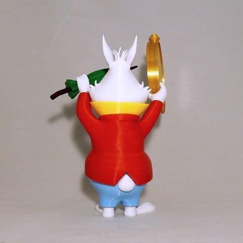 back1.jpg Download free STL file White Rabbit • 3D printer model, reddadsteve