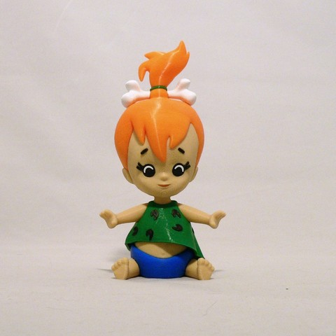 Download free STL files Pebbles Flintstone, reddadsteve