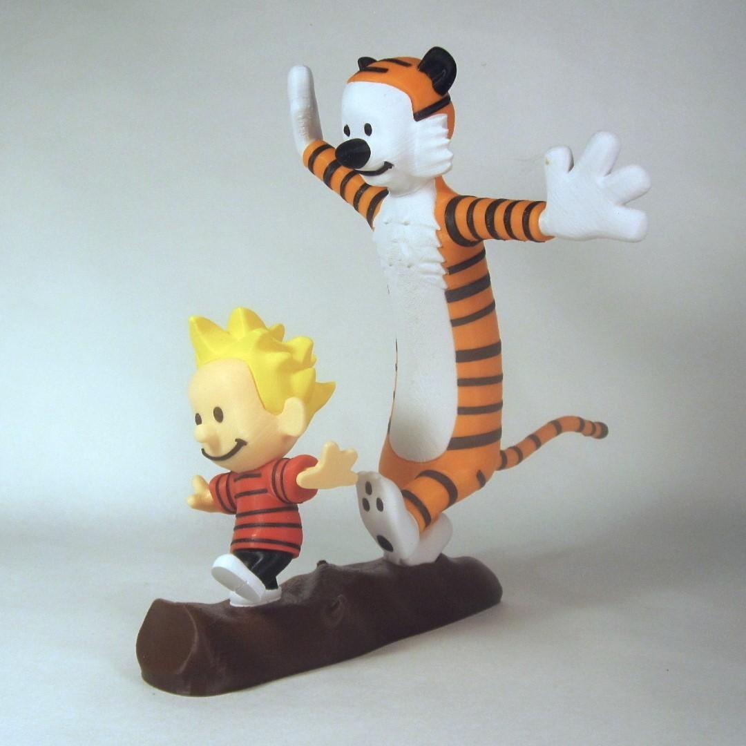full side1.jpg Télécharger fichier STL gratuit Calvin et Hobbes • Plan pour imprimante 3D, reddadsteve