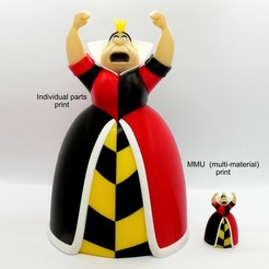 Descargar Modelos 3D para imprimir gratis Reina de Corazones - MMU, reddadsteve