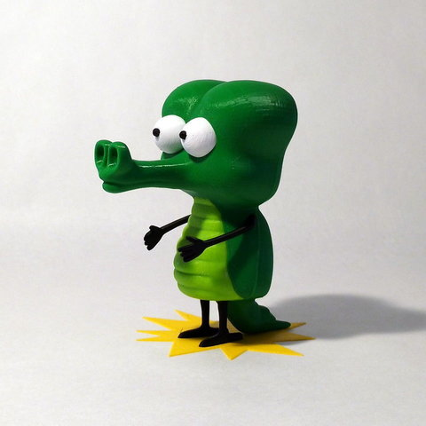 Free 3d printer files Crocodile, reddadsteve