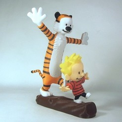 Download free STL files Calvin and Hobbes, reddadsteve