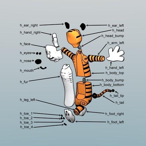 hobbes assembly1.jpg Download free STL file Hobbes • 3D print object, reddadsteve