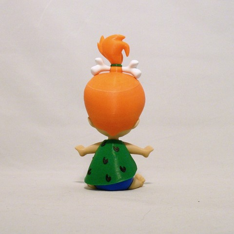 pebbles back1.jpg Download free STL file Pebbles Flintstone • 3D print object, reddadsteve