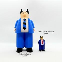 boss group mmu1.jpg Download free 3MF file Pointy Haired Boss - MMU • 3D printer template, reddadsteve