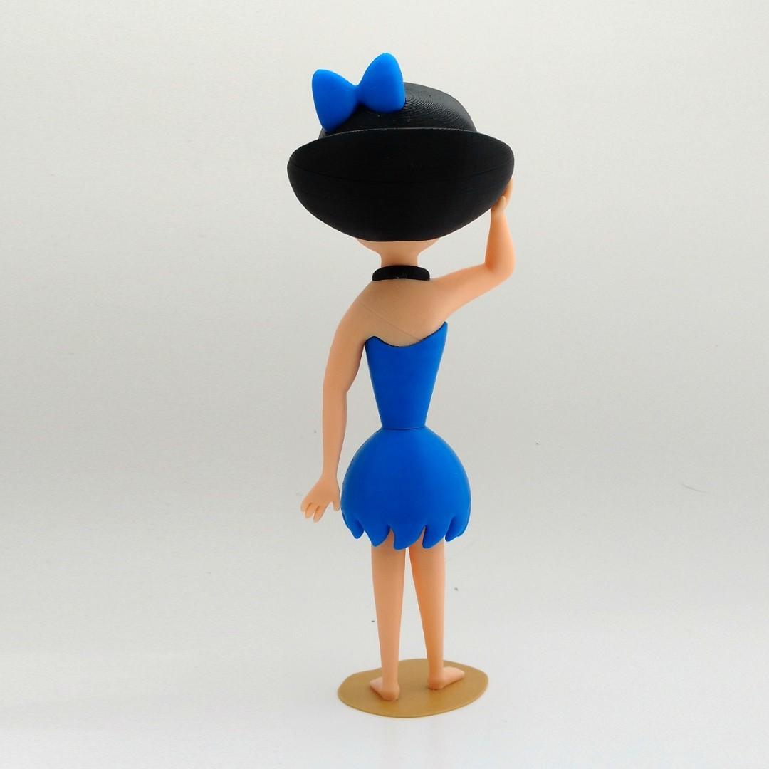 betty back1.jpg Download free STL file Betty Rubble • 3D printer object, reddadsteve