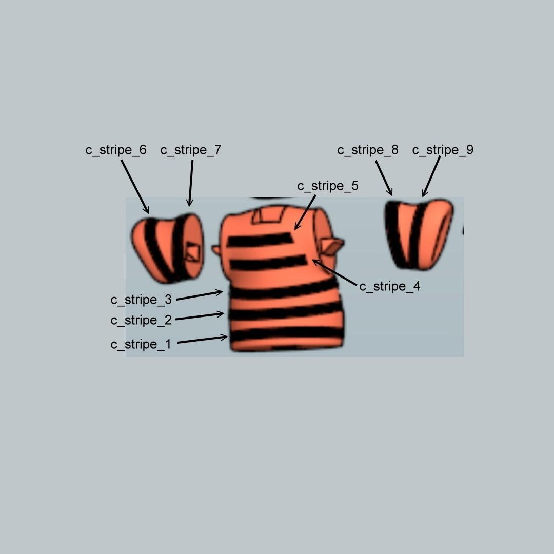 calvin stripes1.jpg Download free STL file Calvin • 3D print design, reddadsteve