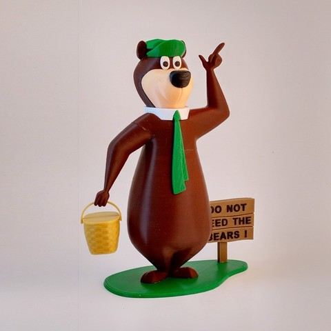 Free Yogi Bear 3D printer file, reddadsteve