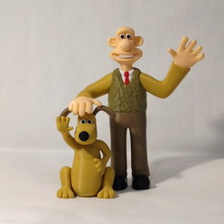 both front1.jpg Download free STL file Wallace and Gromit • Template to 3D print, reddadsteve