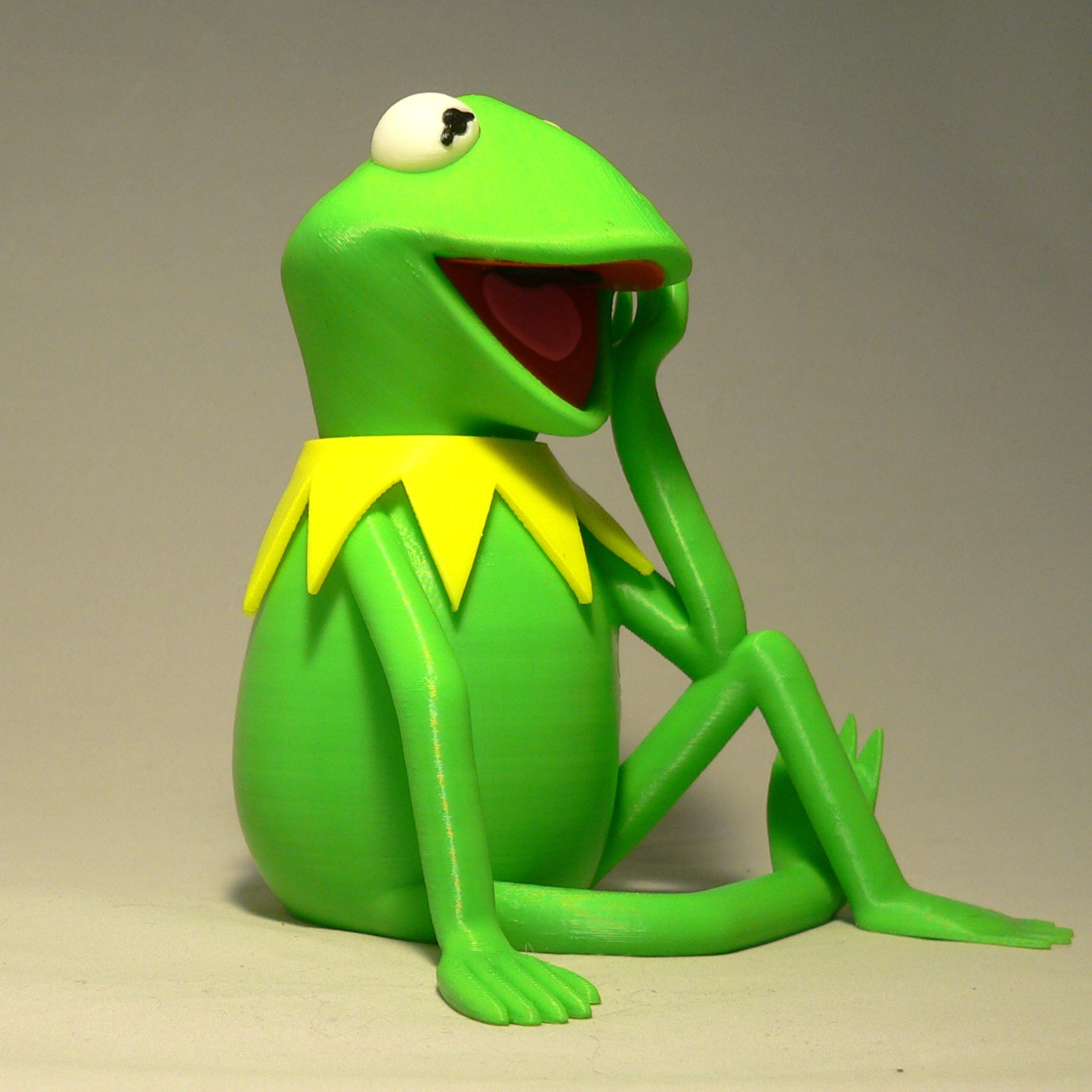 kermit angleb1.jpg Download free STL file Kermit the Frog • 3D printable model, reddadsteve