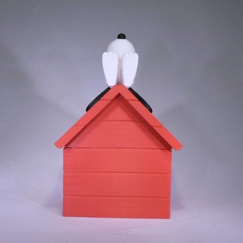 snoopy back1.jpg Download free STL file Snoopy • 3D printable design, reddadsteve