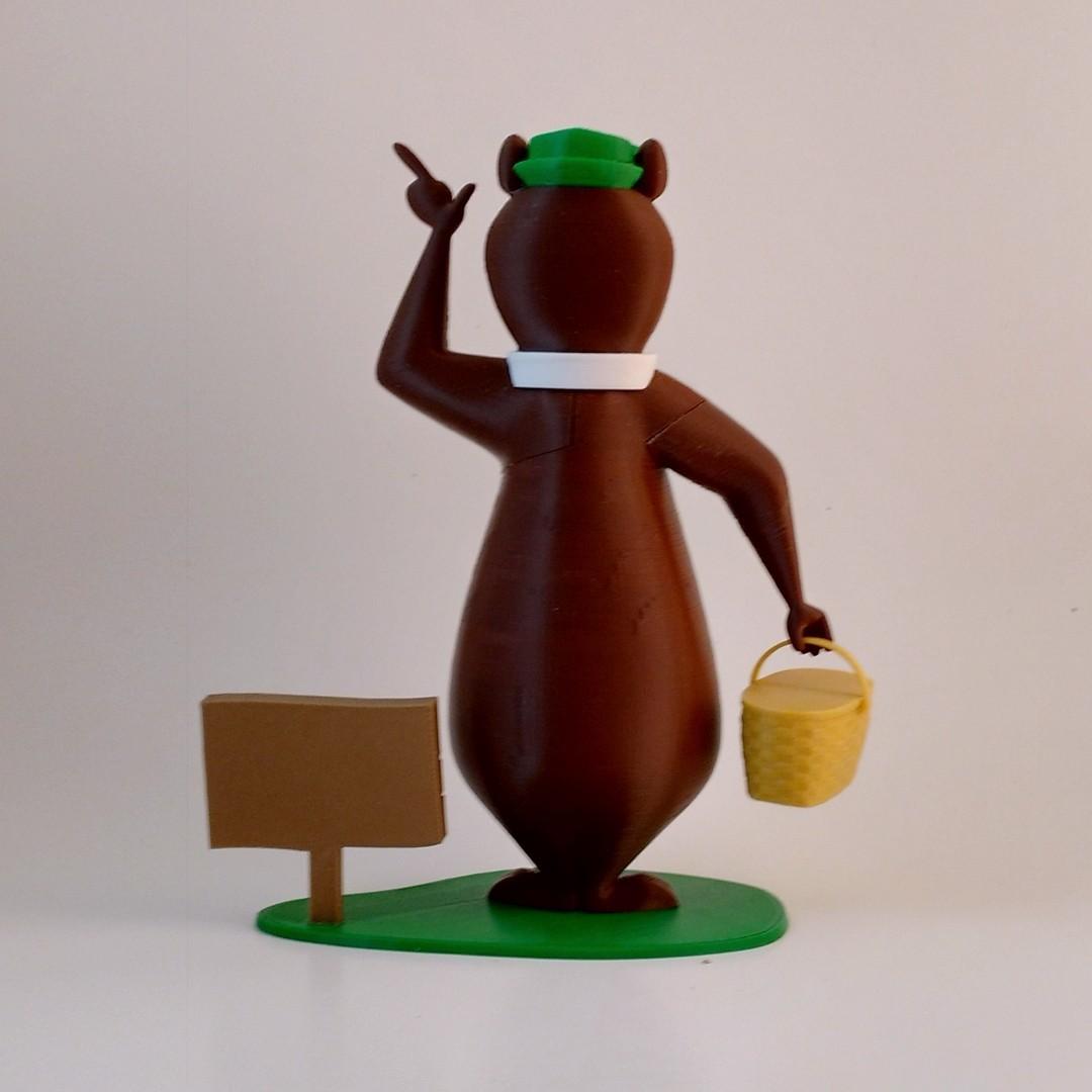 yogi back1.jpg Download free STL file Yogi Bear • 3D printable object, reddadsteve