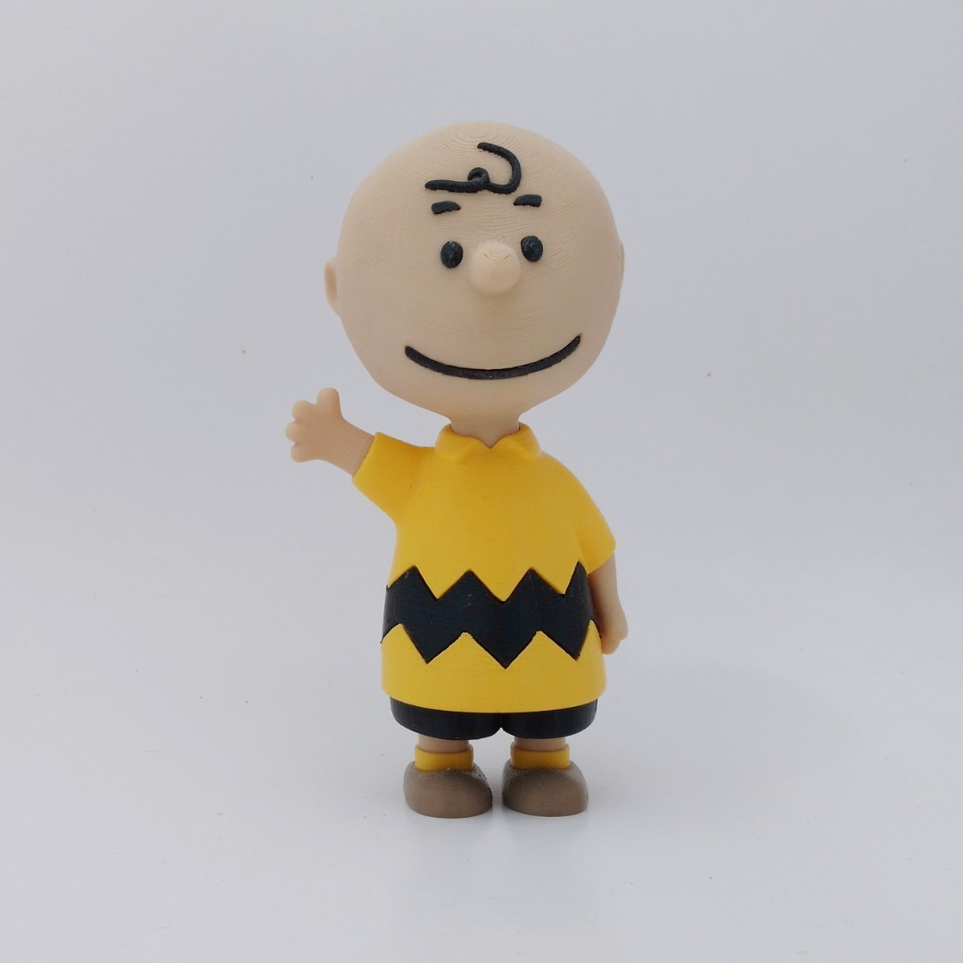 charlie front1.jpg Download free STL file Charlie Brown • 3D printable design, reddadsteve