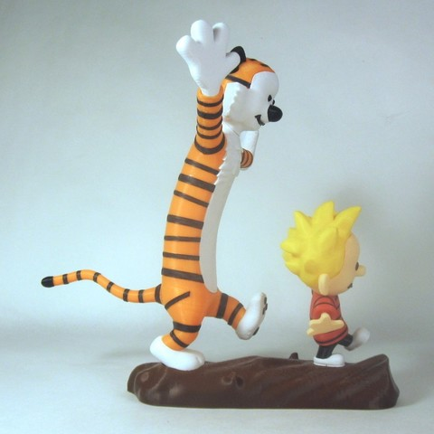 full side b1.jpg Télécharger fichier STL gratuit Calvin et Hobbes • Plan pour imprimante 3D, reddadsteve