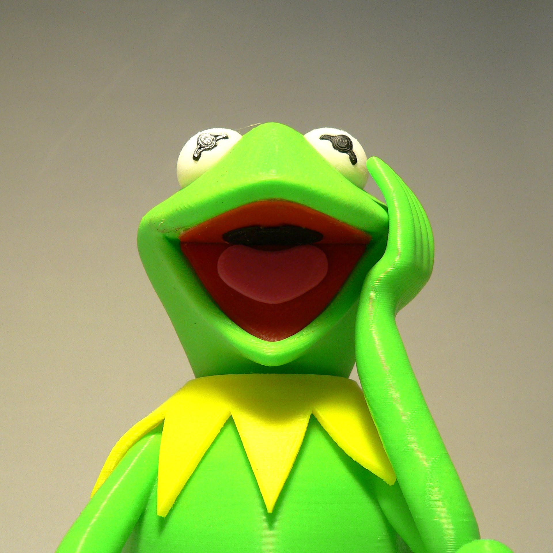kermit mouth1.jpg Download free STL file Kermit the Frog • 3D printable model, reddadsteve