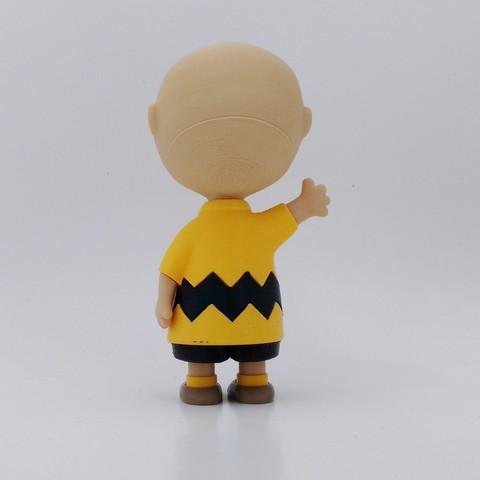 charlie back1.jpg Download free STL file Charlie Brown • 3D printable design, reddadsteve