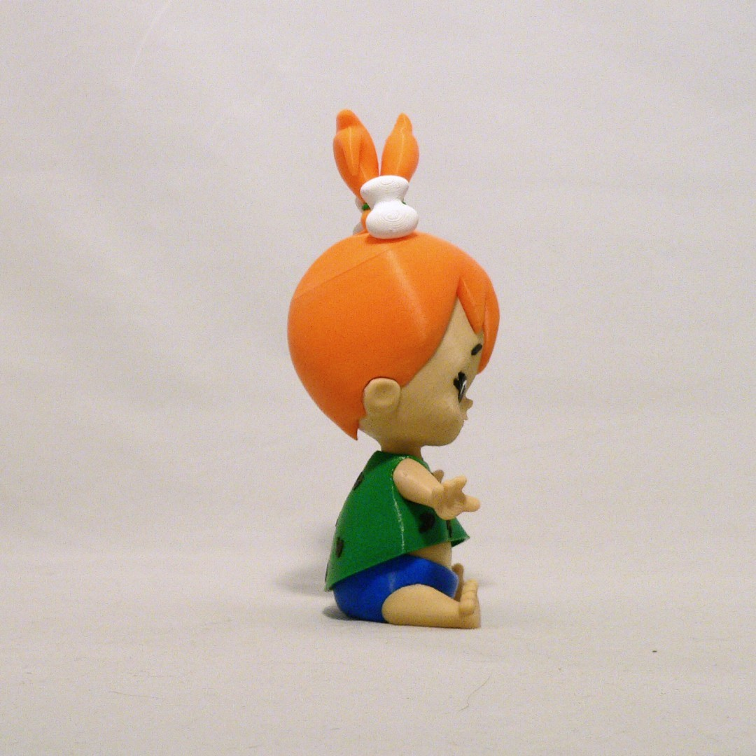 pebbles side1.jpg Download free STL file Pebbles Flintstone • 3D print object, reddadsteve