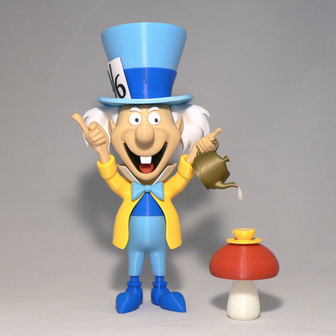 Free 3d printer model Mad Hatter, reddadsteve