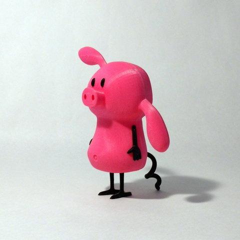 pig angle1.jpg Download free STL file Pig • 3D printable design, reddadsteve