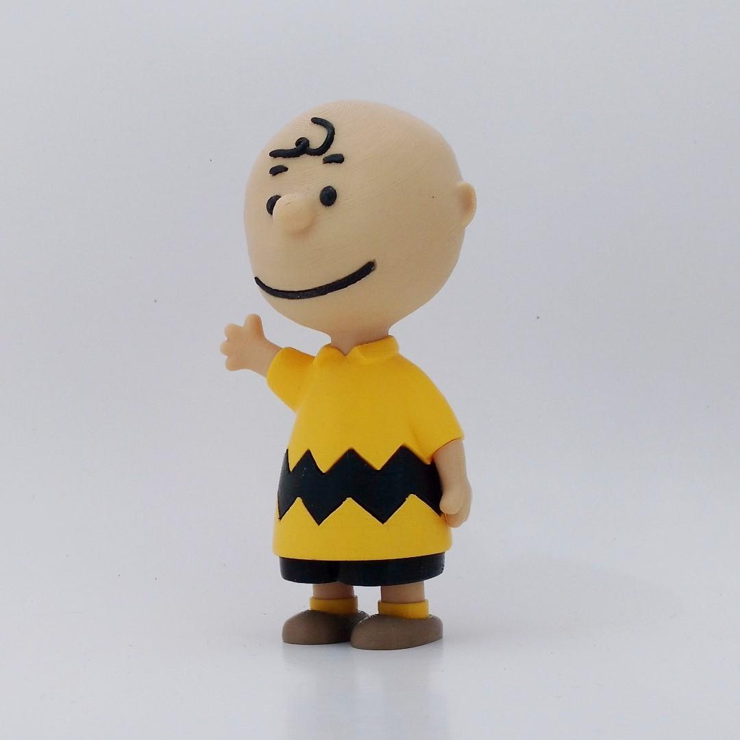charlie angle1.jpg Download free STL file Charlie Brown • 3D printable design, reddadsteve