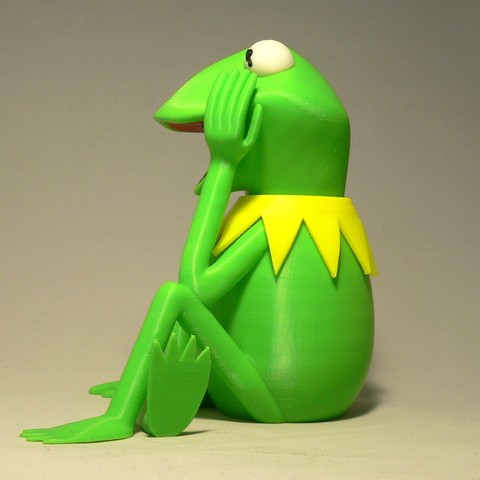 kermit sidea1.jpg Download free STL file Kermit the Frog • 3D printable model, reddadsteve