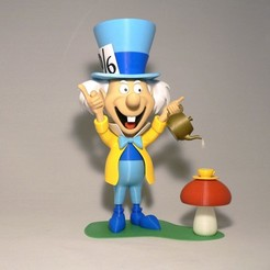 Free Mad Hatter - base 3D printer file, reddadsteve
