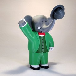 Download free 3D printing models Babar the Elephant, reddadsteve