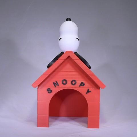 snoopy front1.jpg Download free STL file Snoopy • 3D printable design, reddadsteve