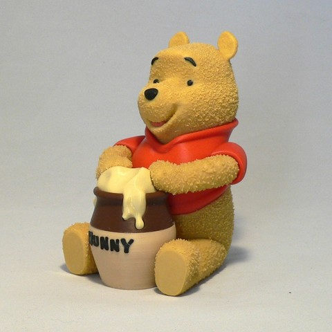 Download free 3D printer designs Winnie the Pooh, reddadsteve