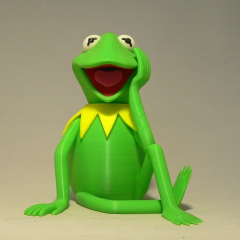 kermit front1.jpg Download free STL file Kermit the Frog • 3D printable model, reddadsteve