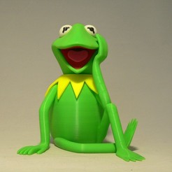 Free STL files Kermit the Frog, reddadsteve