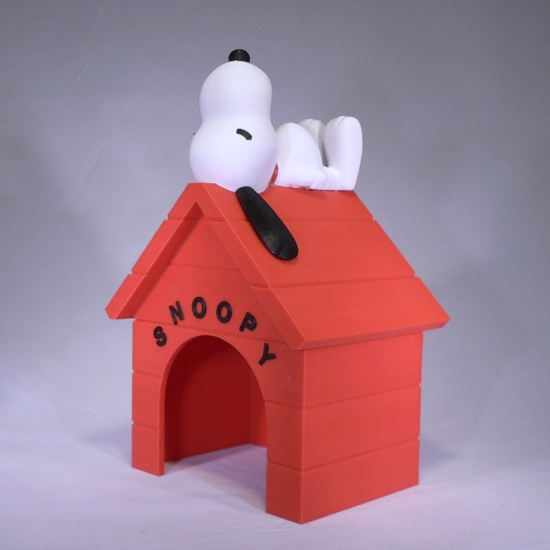 snoopy angle1.jpg Download free STL file Snoopy • 3D printable design, reddadsteve