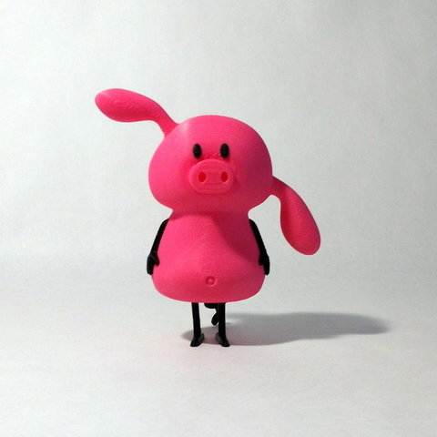 pig front1.jpg Download free STL file Pig • 3D printable design, reddadsteve