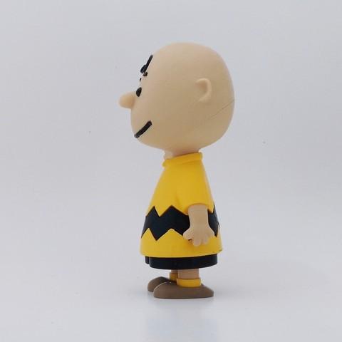 charlie side1.jpg Download free STL file Charlie Brown • 3D printable design, reddadsteve