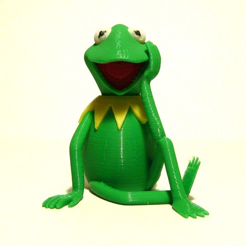 Free 3D printer designs Kermit the Frog - MMU, reddadsteve