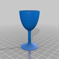 WineGlass.jpg Download free STL file Simple wine glass • 3D print object, Tinkerology