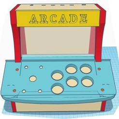 Download 3D printing templates Arcade TableTop Raspbery PI, thazz