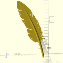 Annotation 2019-09-09 230228.png Download STL file feather earring • 3D printer template, jarod007