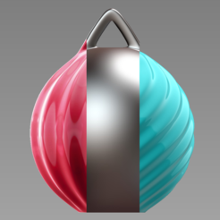 Download free STL files Christmas Ball - customise and print your own, Valdis